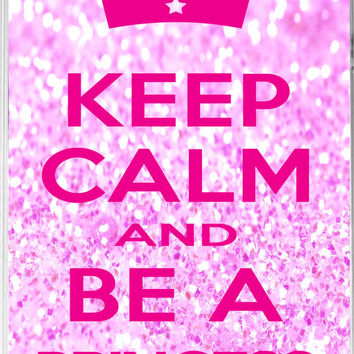 iPhone 5 Case, keep calm and be a princess