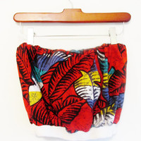 Vintage Tropical Tube Top