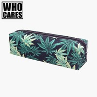 Weed black 3D printing Cosmetic bags makeup bag Fashion neceser pencil case pochette maquillage trousse maquillage femme