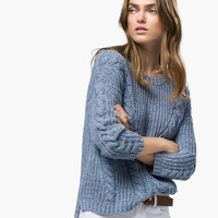 CABLE-KNIT SWEATER - Sweaters & Cardigans - WOMEN - United States of America / Estados Unidos de América