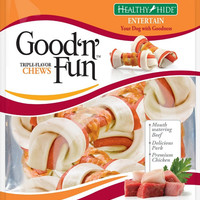 "Healthy Hide Good N Fun Triple Flavor Medium 4"" Bones 6 ct"