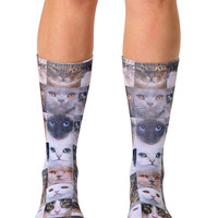 Cat Faces Crew Socks