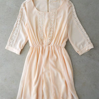 Ivory Crochet Billings Dress