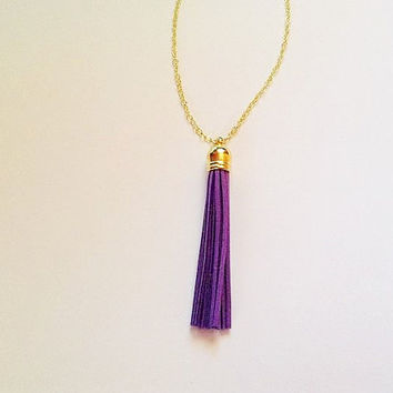 Tassel necklace, purple  tassel necklace, tassel jewelry, colorful  jewelry, purple necklace, layering necklace, statement necklace