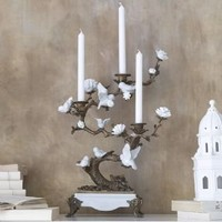 White bird candletree