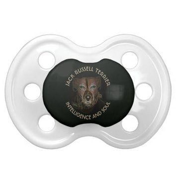 Abstract Jack Russell Terrier Dog BooginHead Pacifier