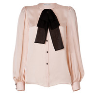 Emilio Pucci - Silk Tie Neck Blouse in Nude