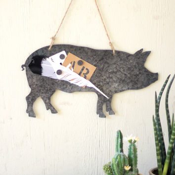 Wooden Metal Pig Chalk/Magnet Board