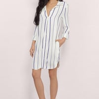 Stacee Striped Shirt Dress $46