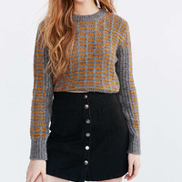 BDG Twill Button Front A-Line Skirt - Urban Outfitters