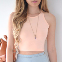 Thao Crop Top - Peach
