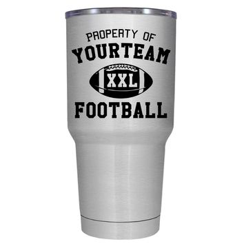 TREK Custom Property of Team Football 30 oz Tumbler Cup