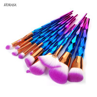 12Pcs Unicorn Makeup Brush set Foundation Eyeshadow Powder Cosmetic Brushes Unicorn Rainbow Contour Blending Make-up Brush Kit