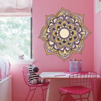 Full Color Wall Decal Mandala Model Map Ornament Star Buddha Yoga flower mcol39
