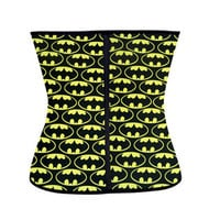 Waist Body Shaper Sexy Stylish Ladies Bat Print Rubber Steel Boned Corset [4965394500]