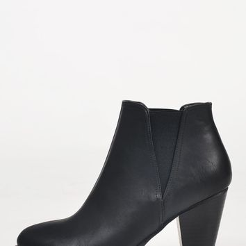 Slip On Leatherette Booties
