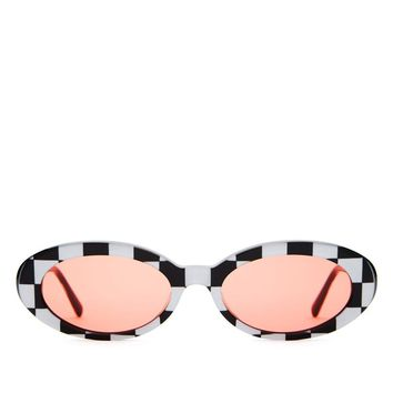 Crap Eyewear - The Sweet Leaf - Checkerboard / Cherry Red CR-39