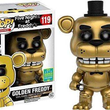 2016 SDCC Exclusive Funko pop Official  at - Golden Freddy Vinyl Action Figure Collectible Model Toy In Stock