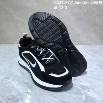 PEAP N703 Nike Air Tail Wind OG 2019 Lunarlon Low Sports Casual Running Shoes Black White