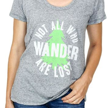 """Retro Brand """"Not All Who Wander are Lost"""" Graphic Tee"""
