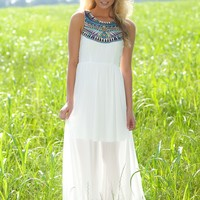 Egyptian Goddess Maxi Dress