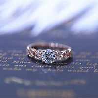 6mm Round Charles & Colvard Brilliant Moissanite Ring Solid 14k Rose Gold Ring Wedding Ring Moissanite Engagement Ring