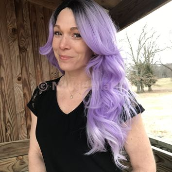 "Lavender Purple 22"" Lace Part Wig *NEW*"
