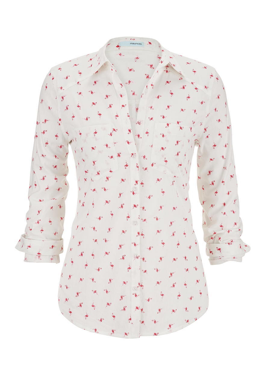 Flamingo Print Button Down Boyfriend From Maurices Brittanys