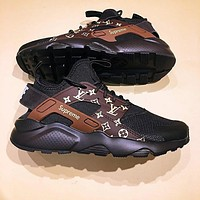 Nike Air Huarache Supreme Lv Black/Brown Fashion Women/Men Casual Running Sport Shoes | Love Q333