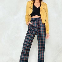 Check Across Town High-Waisted Pants