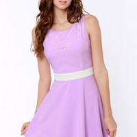 Day Snipper Cutout Lavender Dress