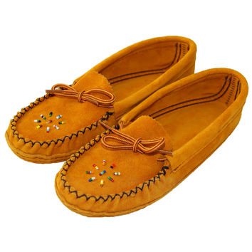Women's Soft-Sole Suede Moccasins