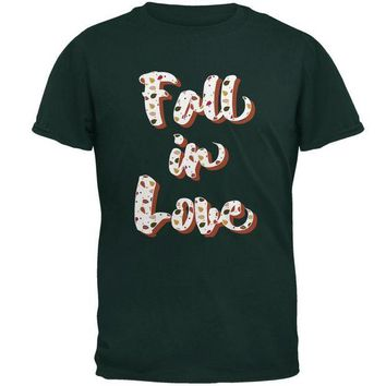 DCCKU3R Autumn Fall in Love Leaves Pattern Mens T Shirt
