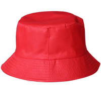Red Candy Color Fisherman Bucket Hat
