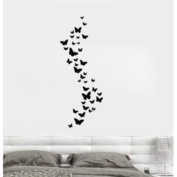 Vinyl Wall Decal Beautiful Butterflies Decoration Bedroom Home Art Stickers Unique Gift (ig2633)