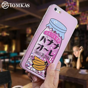 TOMKAS Case For iPhone 6 6S 6 Plus Case New Fashion Bling Liquid Quicksand Luxury Glitter Phone Case For iPhone 6 6S Plus Cover