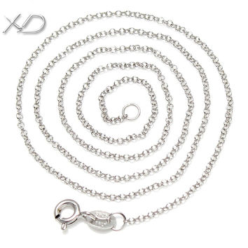 xd 925 sterling silver circle link chain necklace y929