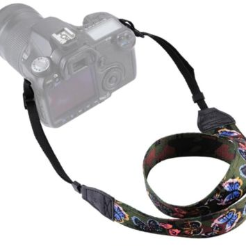 Beautiful Butterflies On Green Camera Strap Photographers Gift - CAST59