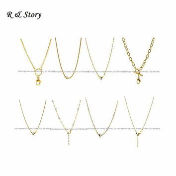 Gold Rolo Chain Stainless Steel for Floating Glass Locket LFH_002