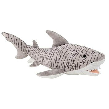 23 Inch Tiger Shark Stuffed Animal Plush Floppy Ocean Species Collection