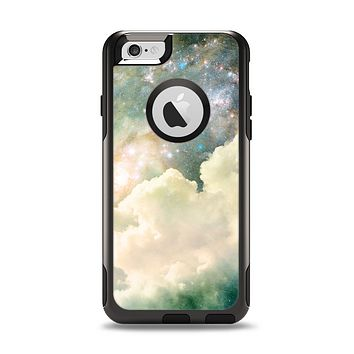 The Cloudy Grunge Green Universe Apple iPhone 6 Otterbox Commuter Case Skin Set