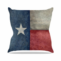 """Bruce Stanfield """"Texas State Flag"""" Vintage Digital Throw Pillow"""