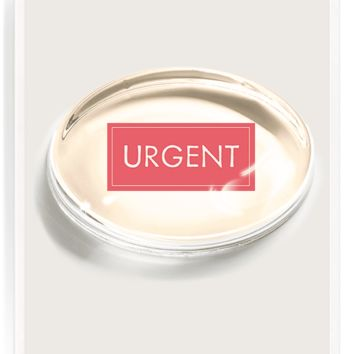 Urgent Stamp Crystal Oval Paperweight