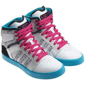 Adidas Neo BBNEO Hi-Top Q16142 Selena Gomez White/Black/Pink Zebra Women Shoes (Size 6.5)