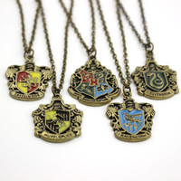 Movie Jewelry Hogwarts Gryffindor Hufflepuff Free Shipping Slytherin Ravenctaw School Hot Sale Crest Necklace & Pendants Jewelry