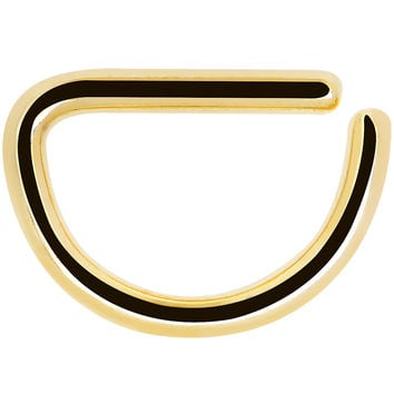 """16 Gauge 5/16"""" Classic Gold Anodized Titanium Annealed Steel Ring"""