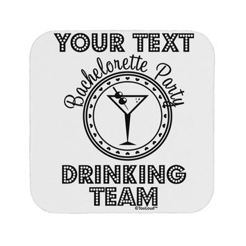 Personalized -Name- Bachelorette Party Drinking Team Coaster