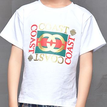 GUCCI paternity loaded a family of four four short-sleeved White