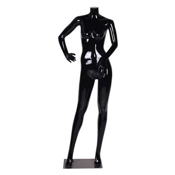 Headless Female Mannequin Full Body Plastic Dress Form Display High Gloss Black