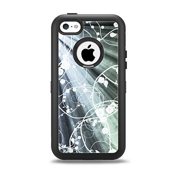 The Grunge Green Rays of Light with Glowing Vine Apple iPhone 5c Otterbox Defender Case Skin Set